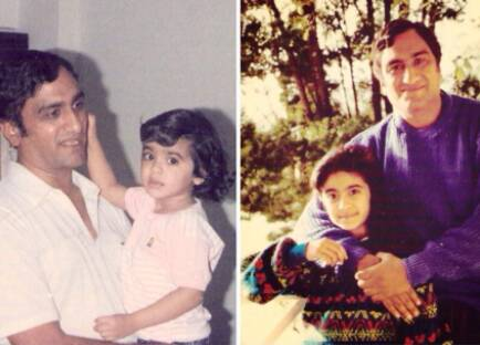 Adah Sharma Childhood Pic with Father