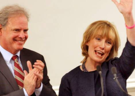 Thomas Hassan with wife Maggie Hassan