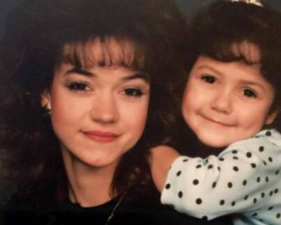 Yolanda McClary Young age photo with her daughter